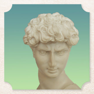 Michelangelo's David Paper Coaster