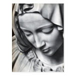 Michelangelo's Pieta detail of Virgin Mary's face Postcard
