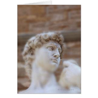 Michelangelo's statue DAVID detail close up view Card