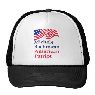 Michele Bachmann American Patriot Trucker Hats