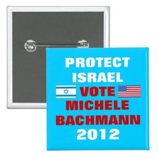 Michele Bachmann Israel 2012 15 Cm Square Badge