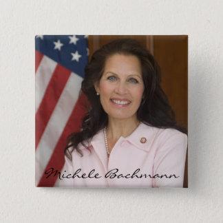 Michele Bachmann Photo Keepsake 15 Cm Square Badge