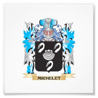 Michelet Coat of Arms - Family Crest Photo Print
