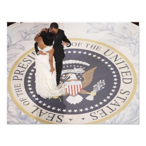 Michelle and Barack Obama Personalized Invite