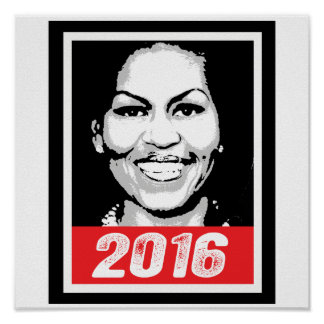 MICHELLE OBAMA 2016 INK ART -.png Posters