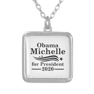 Michelle Obama 2020 Silver Plated Necklace