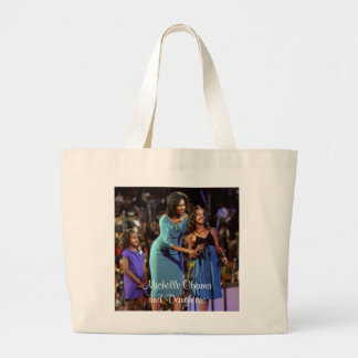 Michelle Obama and Daughters Jumbo Tote Bag