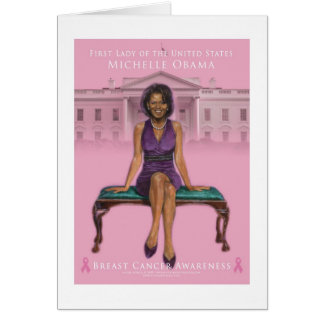 MICHELLE OBAMA BREAST CANCER AWARENESS CARD