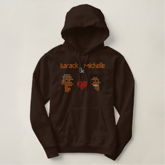 Michelle Obama Family Embroidered Hoodie