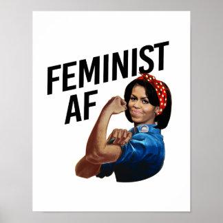 Michelle Obama - Feminist AF --  Poster