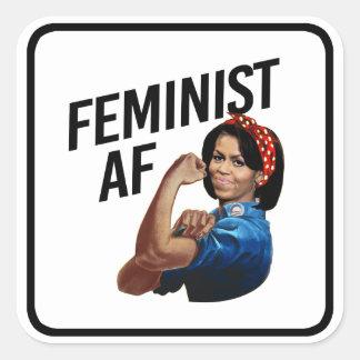 Michelle Obama - Feminist AF --  Square Sticker