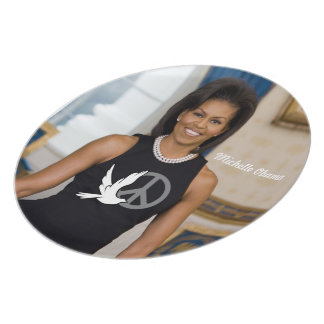 Michelle Obama, First Lade of Peace Plate