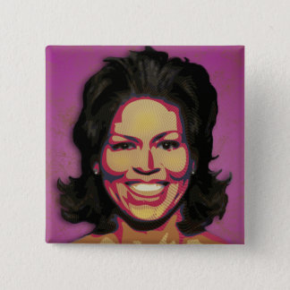 Michelle Obama - First Lady 15 Cm Square Badge