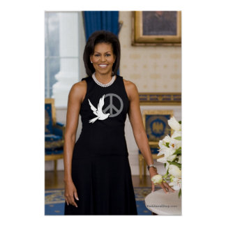 Michelle Obama First Lady of Peace Poster
