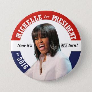 Michelle Obama for President in 2016 7.5 Cm Round Badge