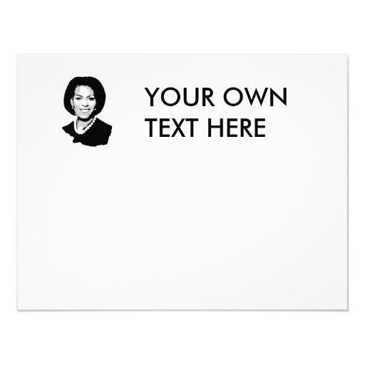 Michelle Obama outline Custom Invites