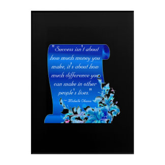 Michelle Obama Quote picture Acrylic Wall Art