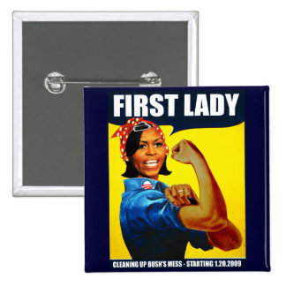 Michelle Obama Rosie the Riveter Pin