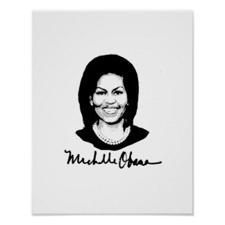 MICHELLE OBAMA SIGNATURE -.png Poster