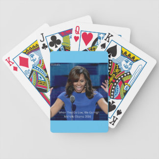 """Michelle Obama """"We Go High"""" Collectible Bicycle Playing Cards"""