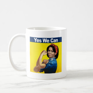 MICHELLE THE RIVETER - YES WE CAN.png Coffee Mug