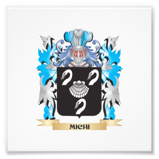 Michi Coat of Arms - Family Crest Photo Art