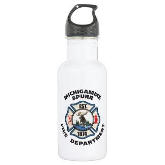 Michigamme Spurr Fire Department logo non apparel 532 Ml Water Bottle