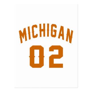Michigan 02 Birthday Designs Postcard