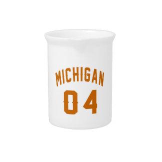 Michigan 04 Birthday Designs Pitcher