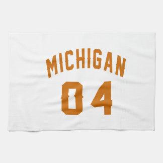 Michigan 04 Birthday Designs Towel