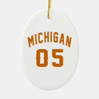 Michigan 05 Birthday Designs Ceramic Oval Decoration