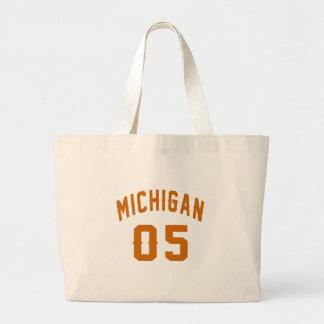 Michigan 05 Birthday Designs Large Tote Bag