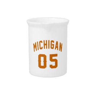 Michigan 05 Birthday Designs Pitcher