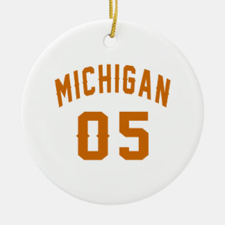 Michigan 05 Birthday Designs Round Ceramic Decoration