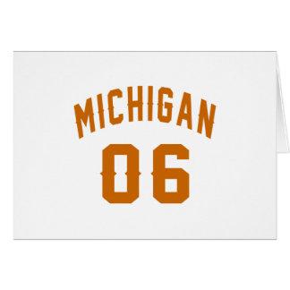 Michigan 06 Birthday Designs Card
