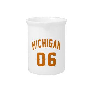 Michigan 06 Birthday Designs Pitcher