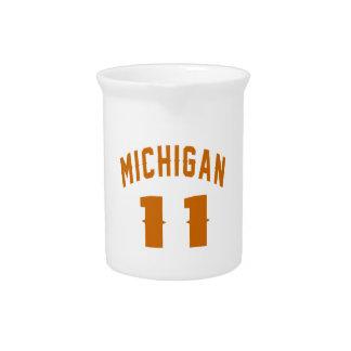 Michigan 11 Birthday Designs Drink Pitchers