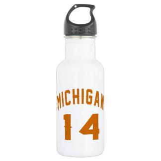 Michigan 14 Birthday Designs 532 Ml Water Bottle