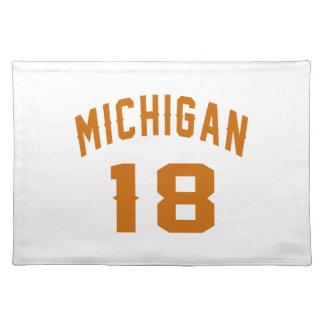 Michigan 18 Birthday Designs Placemat