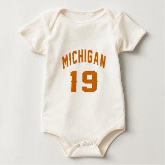 Michigan 19 Birthday Designs Baby Bodysuit