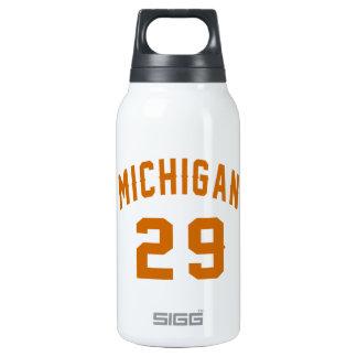 Michigan 29 Birthday Designs Insulated Water Bottle