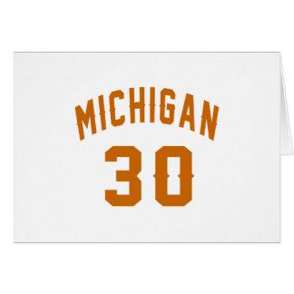 Michigan 30 Birthday Designs Card