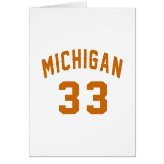 Michigan 33 Birthday Designs Card