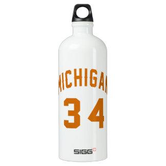 Michigan 34 Birthday Designs SIGG Traveller 1.0L Water Bottle