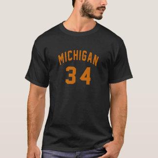Michigan 34 Birthday Designs T-Shirt