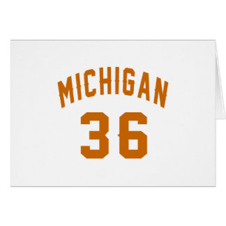 Michigan 36 Birthday Designs Card