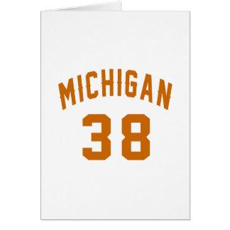 Michigan 38 Birthday Designs Card