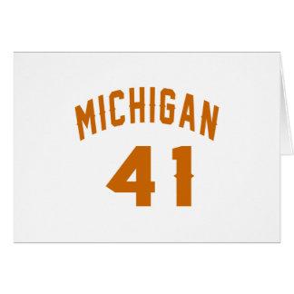 Michigan 41 Birthday Designs Card