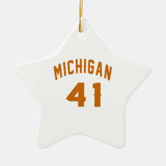 Michigan 41 Birthday Designs Ceramic Star Decoration