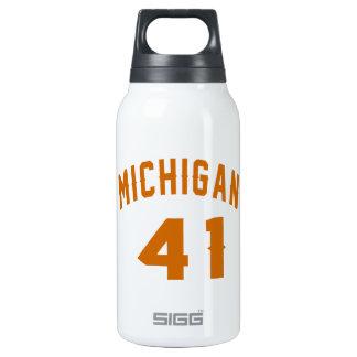 Michigan 41 Birthday Designs Insulated Water Bottle